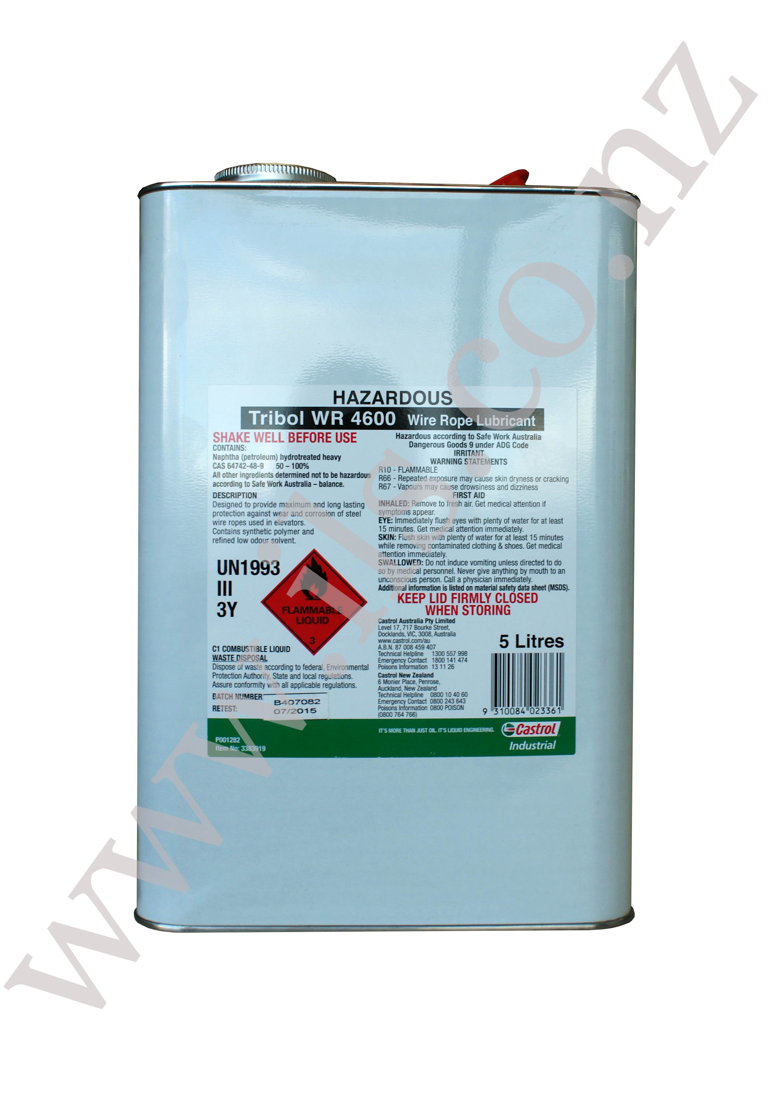 TRIBOL WR 4600 3 x 5 L - 3383919 | Industrial Lubricants & Services ...