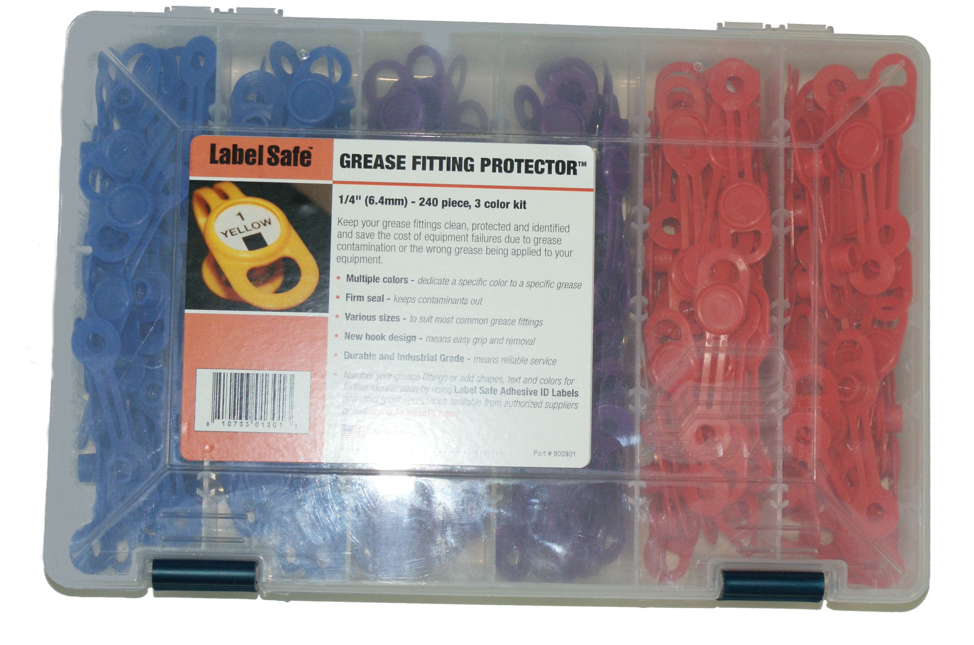 GREASE FITTING PROTECTOR - (6 4mm) 3 COLOR - 60PC